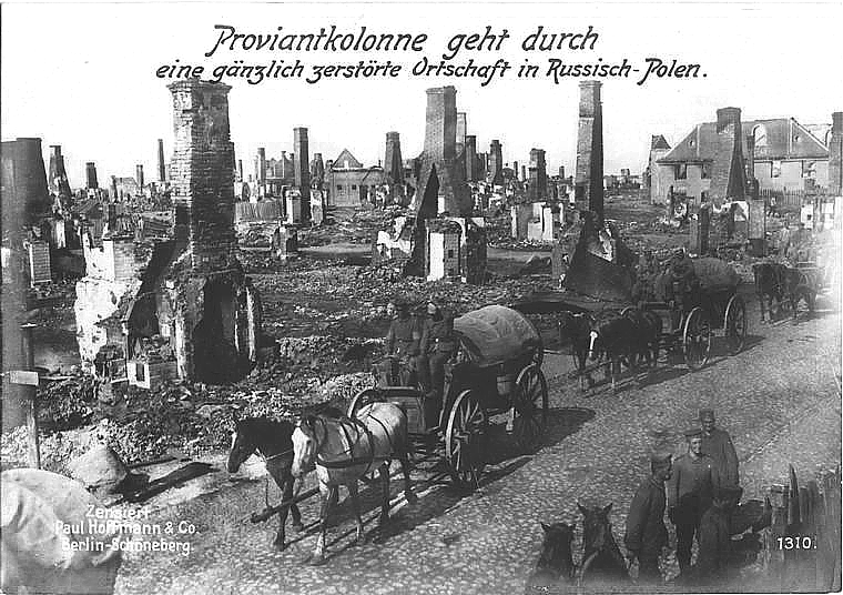German_Army_in_destroyed_Polish_locality_during_World_War_I
